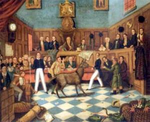 Esel vor Gericht (Quelle Wikipedia)